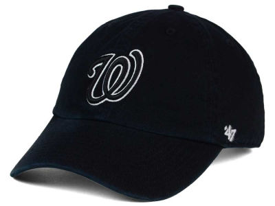 Washington Nationals '47 MLB Black White Black '47 CLEAN UP Cap