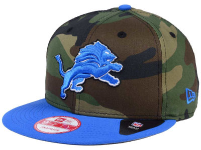 Detroit Lions New Era NFL Camo Two Tone 9FIFTY Snapback Cap