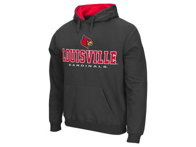 Louisville Cardinals Colosseum NCAA Men's 3 Stack Logo Hoodie