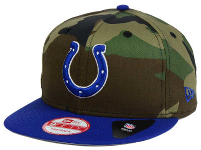 Indianapolis Colts New Era NFL Camo Two Tone 9FIFTY Snapback Cap