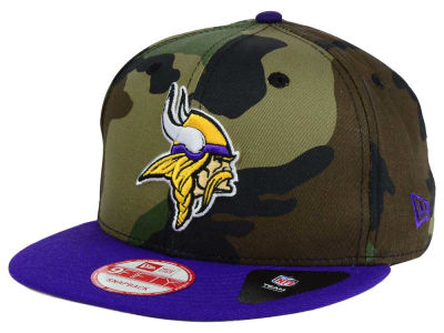 Minnesota Vikings New Era NFL Camo Two Tone 9FIFTY Snapback Cap