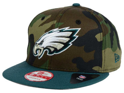 Philadelphia Eagles New Era NFL Camo Two Tone 9FIFTY Snapback Cap