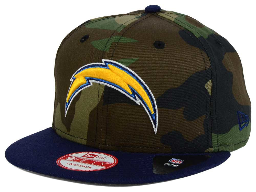 c053ce9a6 Los Angeles Chargers New Era NFL Camo Two Tone 9FIFTY Snapback Cap