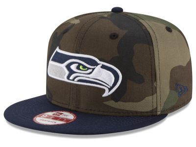 Seattle Seahawks New Era NFL Camo Two Tone 9FIFTY Snapback Cap