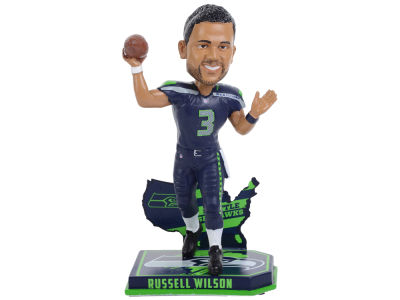 Seattle Seahawks Russell Wilson Forever Collectibles Nation Bobblehead