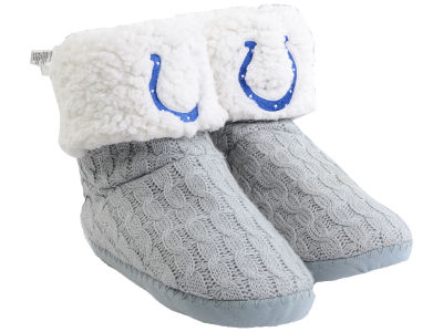 Forever Collectibles Women's Knit Boot Slipper