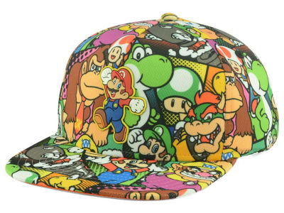 Nintendo Youth Super Mario Allover Snapback Cap