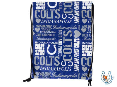 Indianapolis Colts Women's Collage Drawstring Backpack