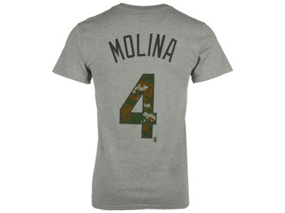 St. Louis Cardinals Yadier Molina Majestic MLB Men's 2016 USMC Player T-Shirt
