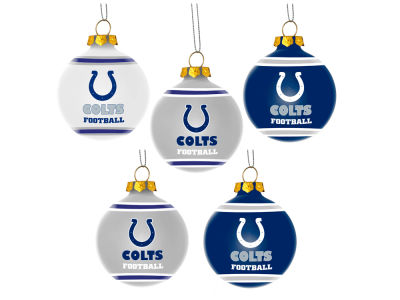 Indianapolis Colts 5 Pack Shatterproof Ball Ornament Set