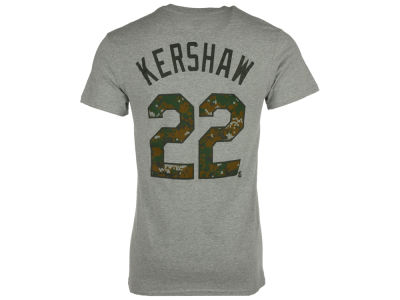 Los Angeles Dodgers Clayton Kershaw Majestic MLB Men's 2016 USMC Player T-Shirt