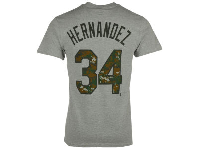 Seattle Mariners Felix Hernandez Majestic MLB Men's 2016 USMC Player T-Shirt