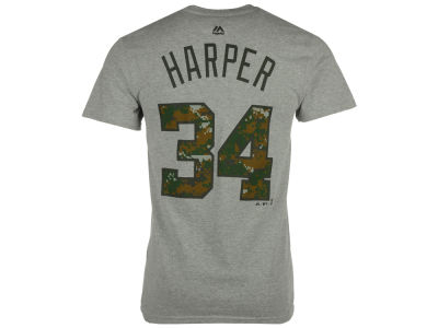 Washington Nationals Bryce Harper Majestic MLB Men's 2016 USMC Player T-Shirt