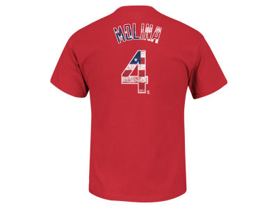 St. Louis Cardinals Yadier Molina Majestic MLB Men's Proud Fan Player T-Shirt