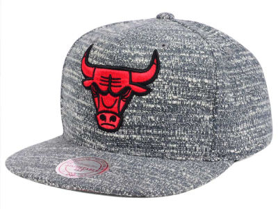 Chicago Bulls NBA Gray Noise Snapback Cap