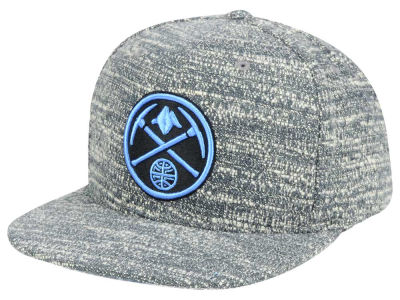 Denver Nuggets NBA Gray Noise Snapback Cap