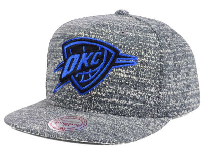 Oklahoma City Thunder NBA Gray Noise Snapback Cap