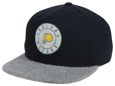 Indiana Pacers Mitchell and Ness NBA Fuzz 2Tone Fitted Cap