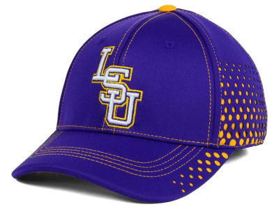 LSU Tigers Top of the World NCAA Fade Stretch Cap