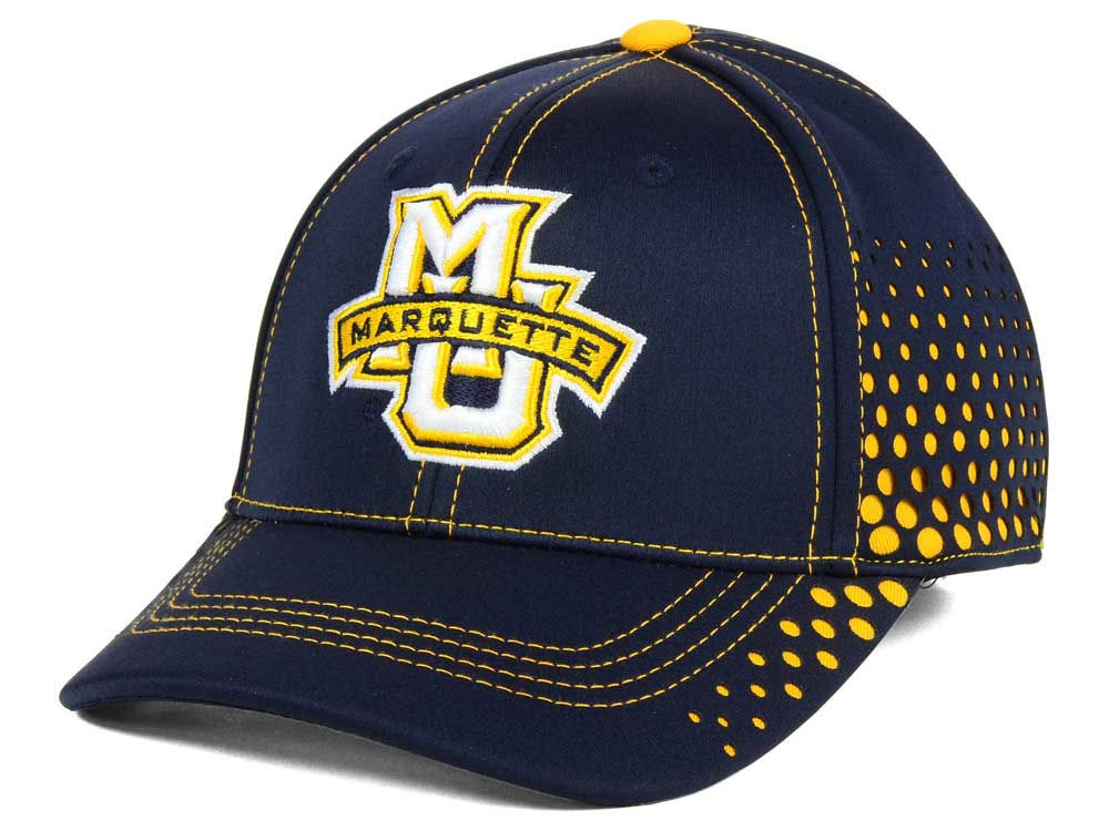 brand new 7f1b7 bce86 ireland marquette golden eagles top of the world ncaa fade stretch cap  55fe3 c3968