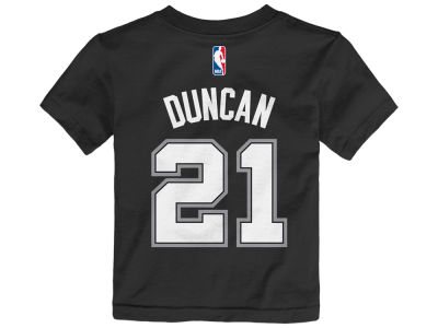 San Antonio Spurs Tim Duncan NBA Toddler Name And Number T-Shirt