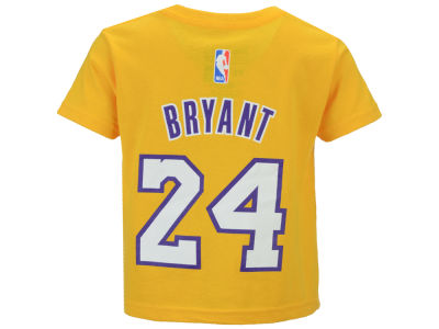 Los Angeles Lakers Kobe Bryant NBA Toddler Name And Number T-Shirt