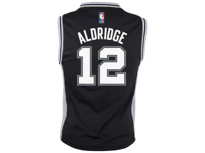 San Antonio Spurs LaMarcus Aldridge Youth NBA Revolution 30 Jersey