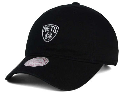 Brooklyn Nets Mitchell and Ness NBA Dad Hat Strapback