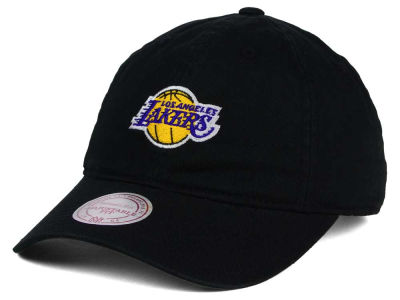 Los Angeles Lakers Mitchell and Ness NBA Dad Strapback Hat