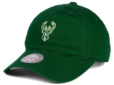 Milwaukee Bucks Mitchell and Ness NBA Dad Hat Strapback