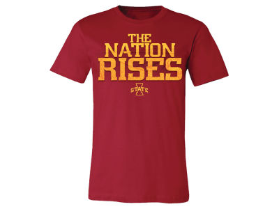 Iowa State Cyclones NCAA Men's The Nation Rises T-Shirt