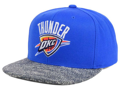 Oklahoma City Thunder NBA Color Gray Noise Snapback Cap