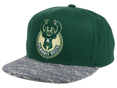 Milwaukee Bucks NBA Color Gray Noise Snapback Cap