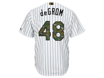 New York Mets Jacob deGrom MLB Men's 2016 USMC Memorial Day Cool Base Jersey