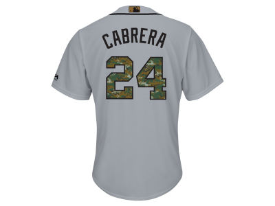 Detroit Tigers Miguel Cabrera MLB Men's 2016 USMC Memorial Day Cool Base Jersey