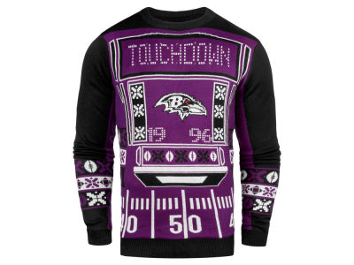 Baltimore Ravens NFL Men's Light Up Ugly Crew Neck Sweater