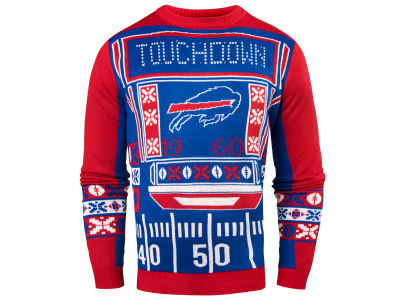 Buffalo Bills NFL Men's Light Up Ugly Crew Neck Sweater