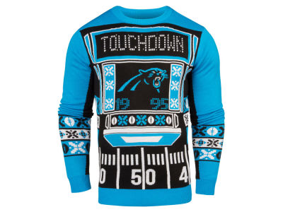 Carolina Panthers NFL Men's Light Up Ugly Crew Neck Sweater