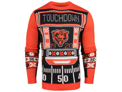 Chicago Bears NFL Men's Light Up Ugly Crew Neck Sweater