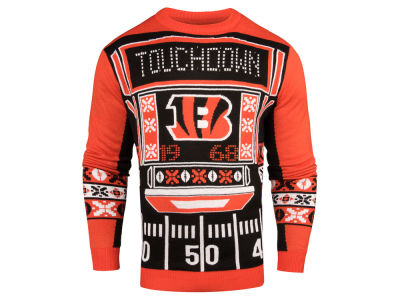 Cincinnati Bengals NFL Men's Light Up Ugly Crew Neck Sweater