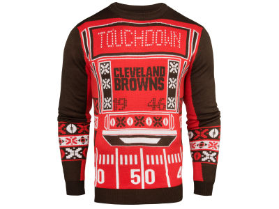 Cleveland Browns NFL Men's Light Up Ugly Crew Neck Sweater