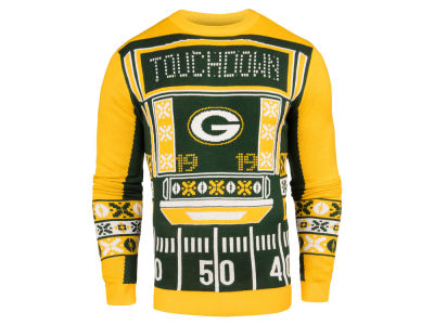 Green Bay Packers NFL Men's Light Up Ugly Crew Neck Sweater