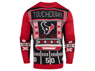 Houston Texans NFL Men's Light Up Ugly Crew Neck Sweater