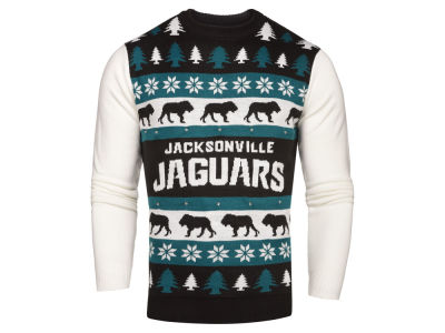 Jacksonville Jaguars NFL Men's Light Up Ugly Crew Neck Sweater