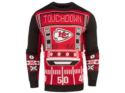 Kansas City Chiefs NFL Men's Light Up Ugly Crew Neck Sweater