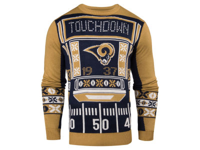 Los Angeles Rams NFL Men's Light Up Ugly Crew Neck Sweater