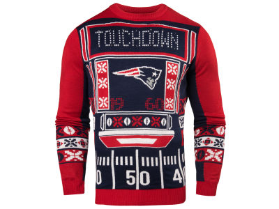 New England Patriots NFL Men's Light Up Ugly Crew Neck Sweater