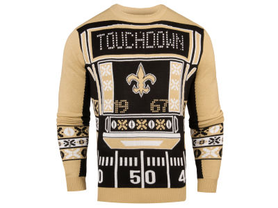 New Orleans Saints NFL Men's Light Up Ugly Crew Neck Sweater