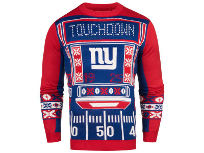 New York Giants NFL Men's Light Up Ugly Crew Neck Sweater