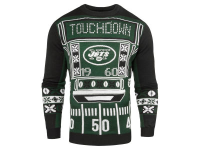 New York Jets NFL Men's Light Up Ugly Crew Neck Sweater